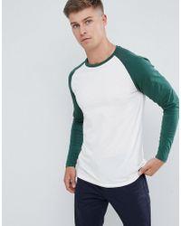 Produkt Long Sleeve T-shirt With Colour Raglan Sleeve - White