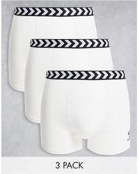 Hummel Classic 3-pack Boxer Shorts - White