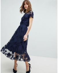 Coast - Neive Floral Applique Skirt - Lyst