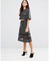 TFNC London - Mesh Detail Skirt - Lyst