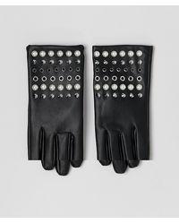 ASOS Handschoenen Met Leerlook, Parels En Studs - Zwart