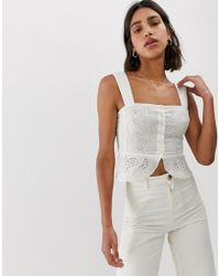 Free People I Want You Bodice Top - White