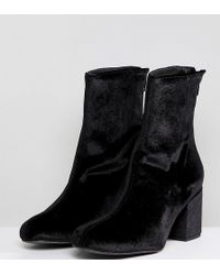 Free People Cecile Velvet Ankle Boot - Black