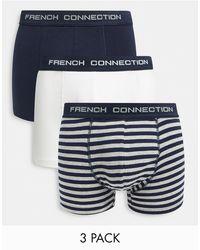 French Connection Набор Из 3 Боксеров-брифов Из Органического Хлопка French Сonnection-многоцветный - Синий
