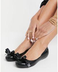 Zaxy Bailarinas negras con detalle - Negro