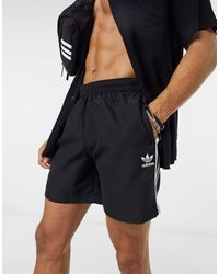 adidas Originals – e Badeshorts mit den 3-Streifen - Schwarz