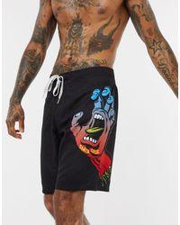 Santa Cruz Fade Hand Boardshort - Black