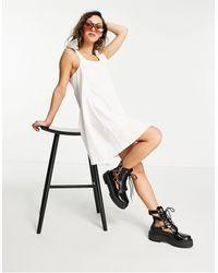 TOPSHOP - Poplin Pinafore Mini Dress - Lyst