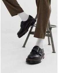 Dr. Martens Черные Туфли С 3 Парами Люверсов 1461-черный