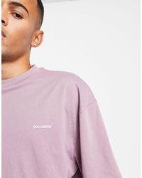 Collusion Camiseta violeta con logo - Morado