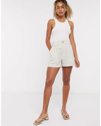 & Other Stories Linen Tailored Shorts - White