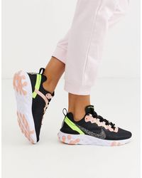 Nike W React Element 55 Low-top Sneakers - Zwart