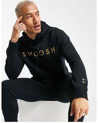 """Nike - Черное Худи С Надписью """"swoosh"""" -черный - Lyst"""