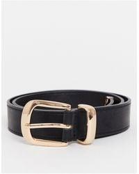 Miss Selfridge Belt With Chunky Buckle - Black