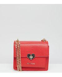 Valentino By Mario Valentino - Red Heart Lock Detail Mini Cross Body Bag - Lyst