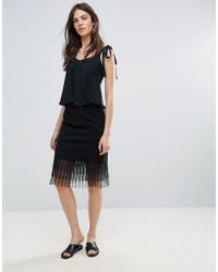 Amy Lynn - Netted Mesh Midi Skirt - Lyst