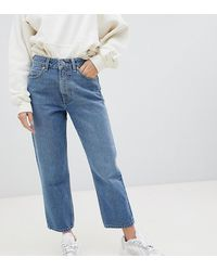 ASOS Asos Design Petite Recycled Florence Authentic Straight Leg Jeans - Blue