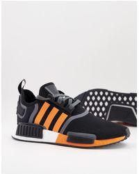adidas Originals Черные Кроссовки С Оранжевыми Полосками Nmd_r1-черный