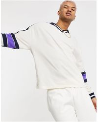 ASOS Oversized Long Sleeve Polo Shirt - White