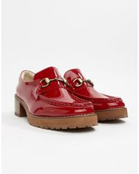 E8 - E8 By Miista Red Patent Leather Heeled Loafers - Lyst