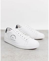 Karl Lagerfeld Белые Кроссовки С Черной Отделкой -белый