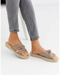 ASOS Jolly Knotted Mule Espadrille - Natural