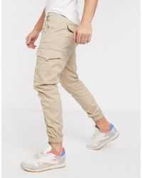 Jack & Jones Intelligence - Slim-fit Cargobroek - Naturel