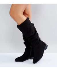 ASOS - Capital Wide Fit Slouch Knee Boots - Lyst