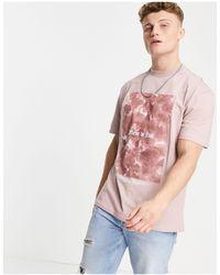 River Island T-shirt imprimé - Rose