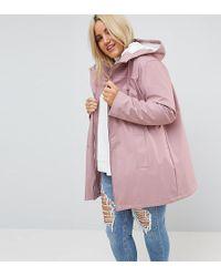 ASOS - Premium Borg Raincoat - Lyst