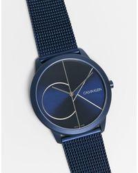 Calvin Klein Orologio con logo - Blu