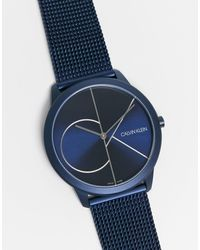 Calvin Klein Reloj con logo - Azul