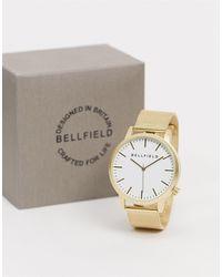 Bellfield Mesh Bracelet Watch - Metallic
