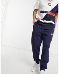 Fila Clooney - Joggers blu navy con fondo elasticizzato