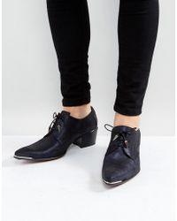 Jeffery West - Sylvian Lace Up Shoes In Dark Navy - Lyst