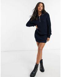 ASOS Zip Through Dress - Blue