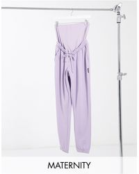 Missguided Co-ord Oversized sweatpants - Purple