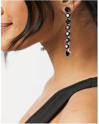 Krystal London Swarovski Crystal 8 Drop Earrings-black