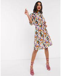 Closet Платье Мини С Принтом Closet-розовый