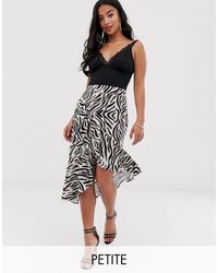 PrettyLittleThing Midi Wrap Skirt With Frill Detail - Black