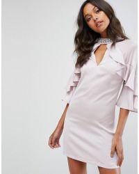 19d3fce0455fd9 Needle & Thread Gloss Mini Dress in Blue - Lyst