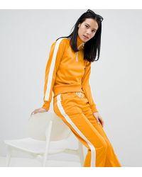 Monki - Side Stripe Track Pants In Mustard - Lyst