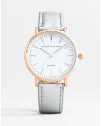 Christin Lars – Uhr mit vergoldetem Gehäuse und armband - Mettallic