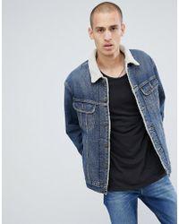 Lee Jeans - Borg Borg Jacket Vintage Worn - Lyst