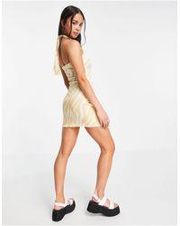 Another Reason Halterneck Mini Dress - Multicolour