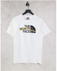 The North Face Белая Футболка Mountain Line-белый