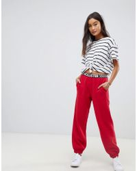 Hollister - Boyfriend Trackpant With Multiple Logo - Lyst