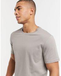 New Look T-shirt lunga grigia - Grigio