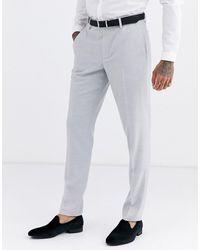 ASOS - Wedding Skinny Suit Pants In Ice Grey Micro Texture - Lyst