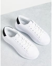 Truffle Collection Wide Fit Flatform Trainers - White